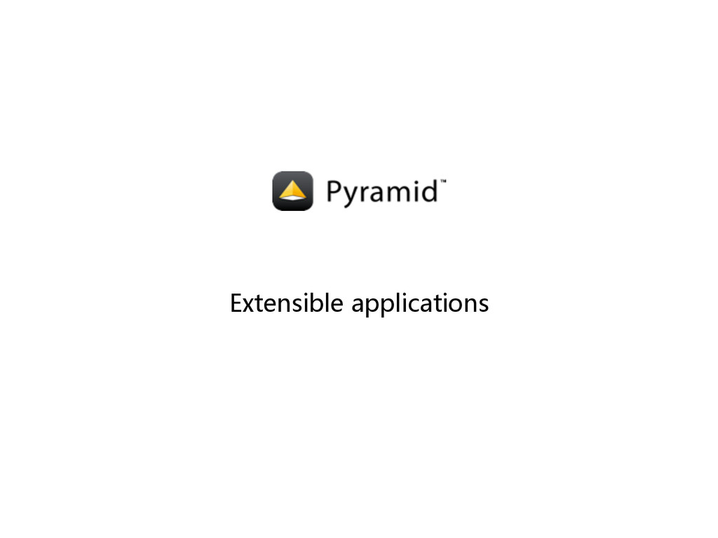 Extensible applications