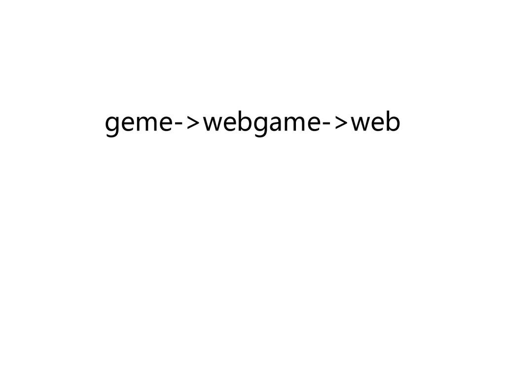 geme->webgame->web