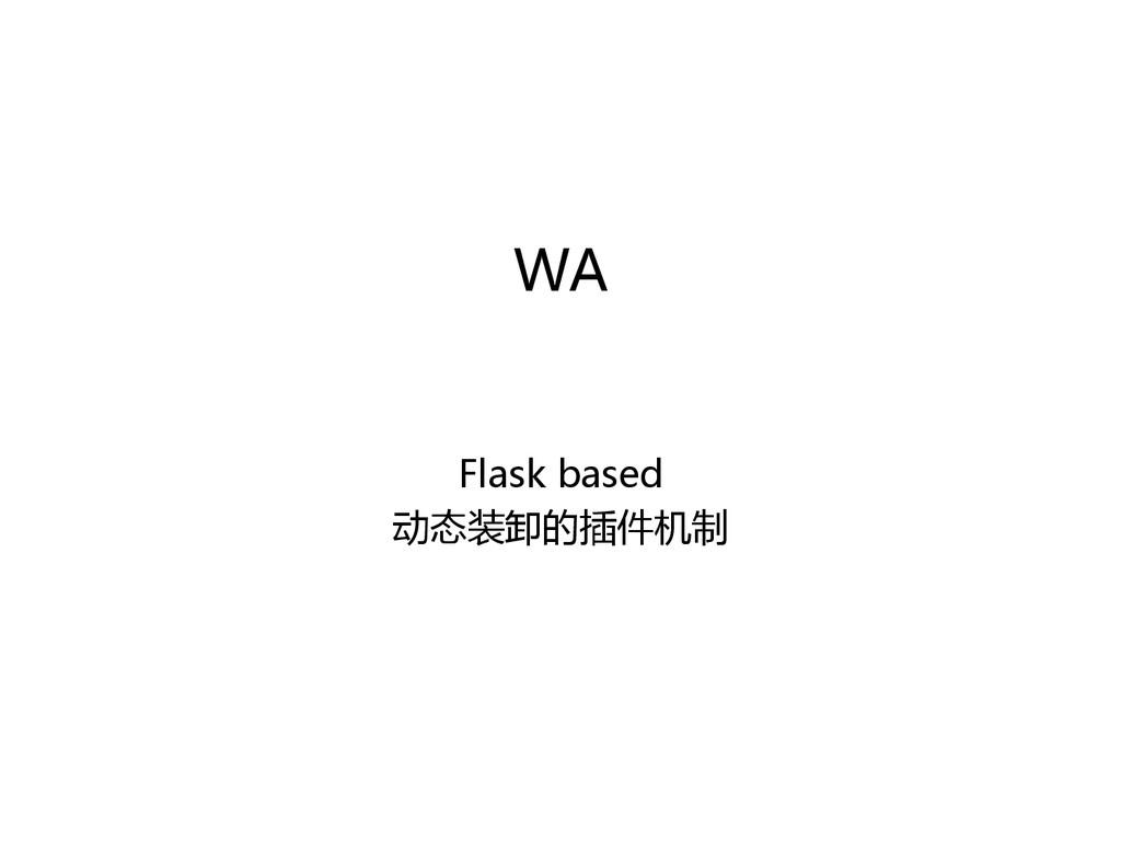 WA  Flask based  动态装卸的插件机制