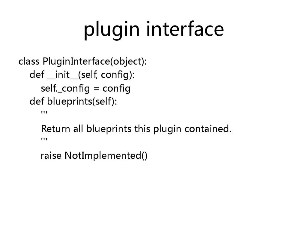 plugin interface  class PluginInterface(o...