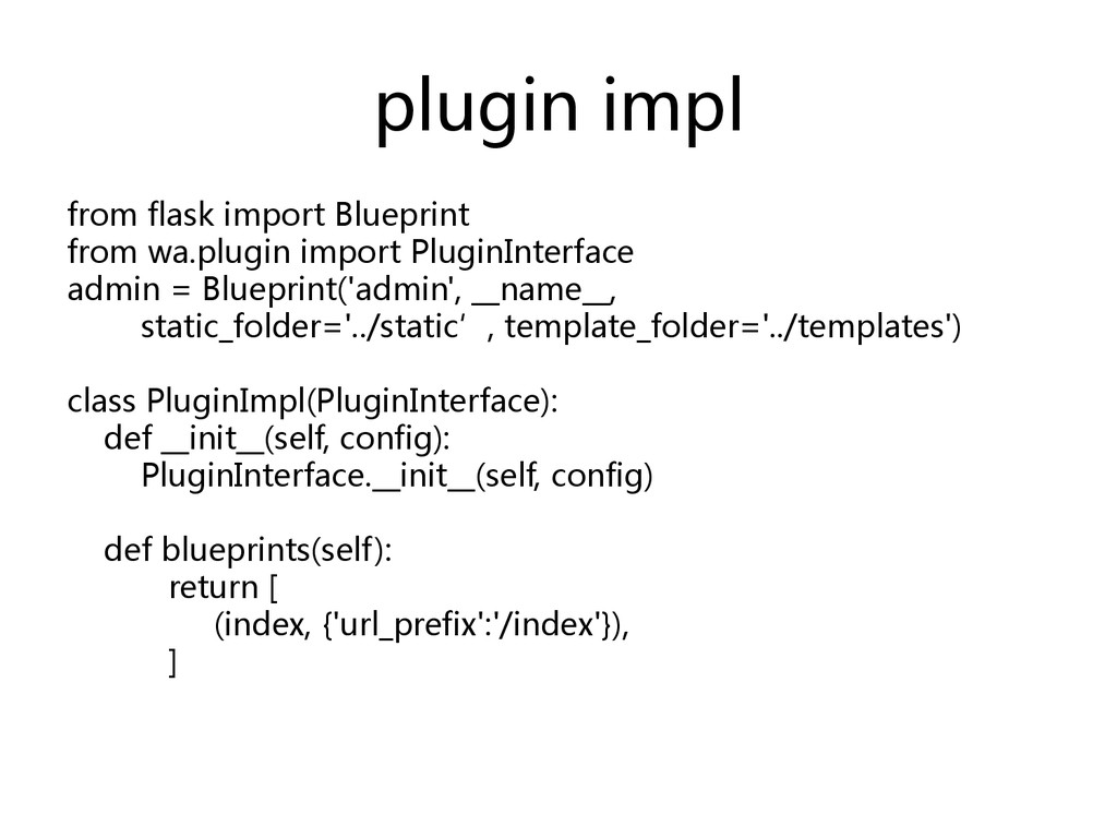plugin impl  from flask import Bluepr...
