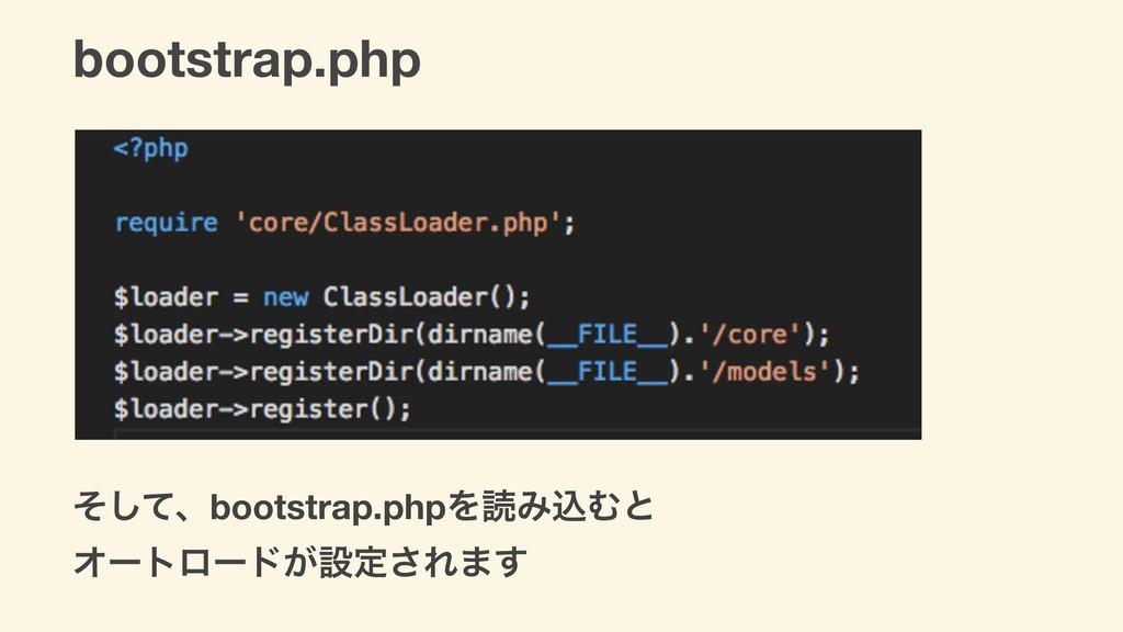 bootstrap.php ͦͯ͠ɺbootstrap.phpΛಡΈࠐΉͱ Φʔτϩʔυ͕ઃఆ...