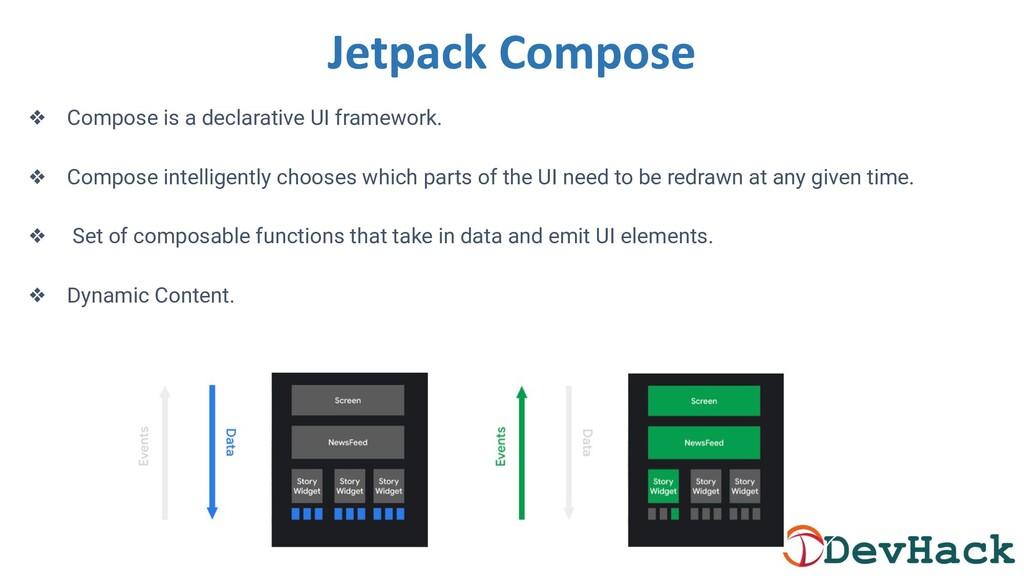 ❖ Compose is a declarative UI framework. ❖ Comp...