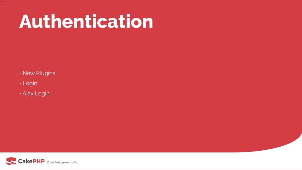 Authentication • New Plugins • Login • Ajax Log...