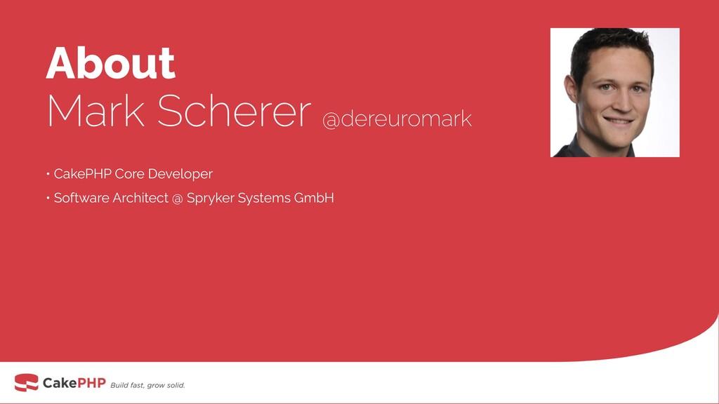 About Mark Scherer @dereuromark • CakePHP Core ...