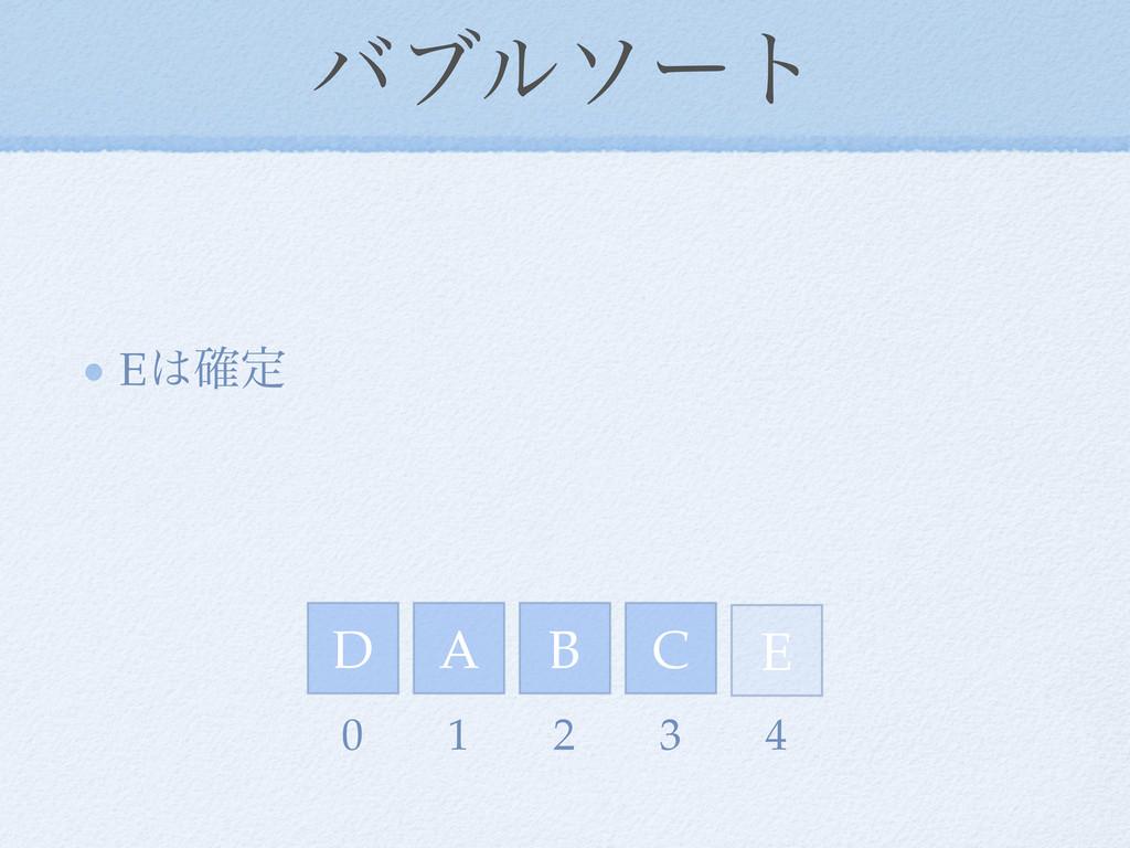 όϒϧιʔτ E֬ఆ D E A C B 0 1 2 3 4