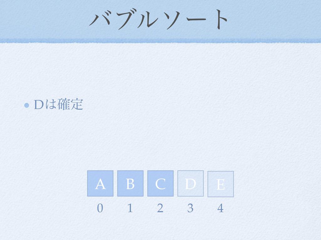 όϒϧιʔτ D֬ఆ D E A C B 0 1 2 3 4