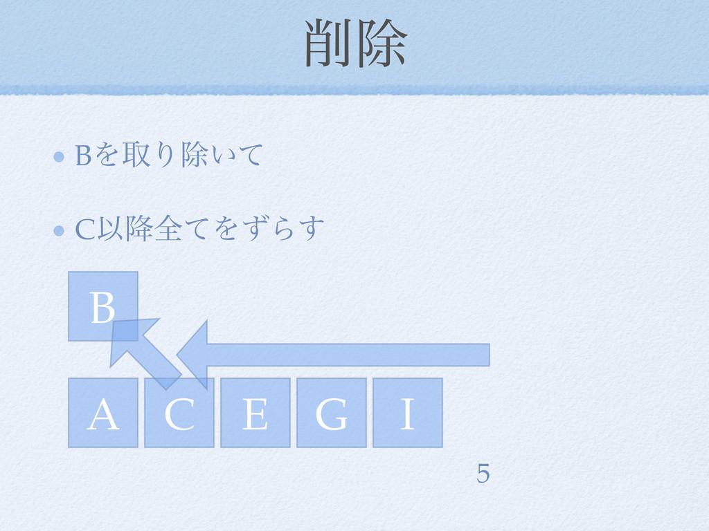 আ BΛऔΓআ͍ͯ CҎ߱શͯΛͣΒ͢ A C E I G 5 B