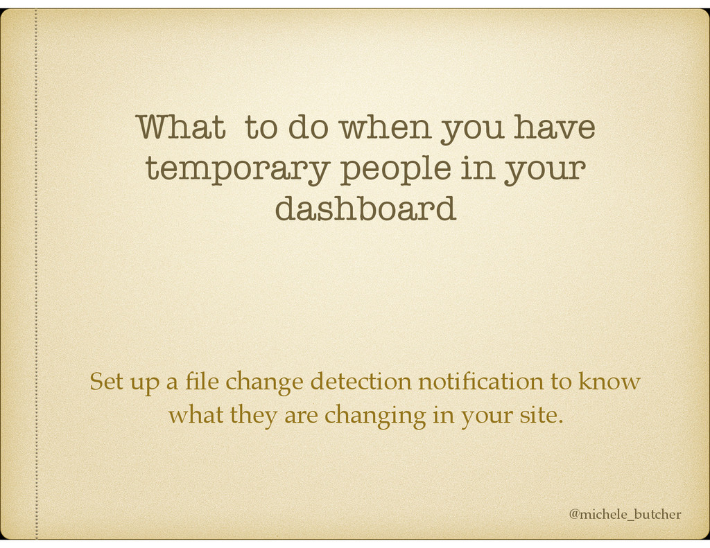 What to do when you have temporary people in yo...