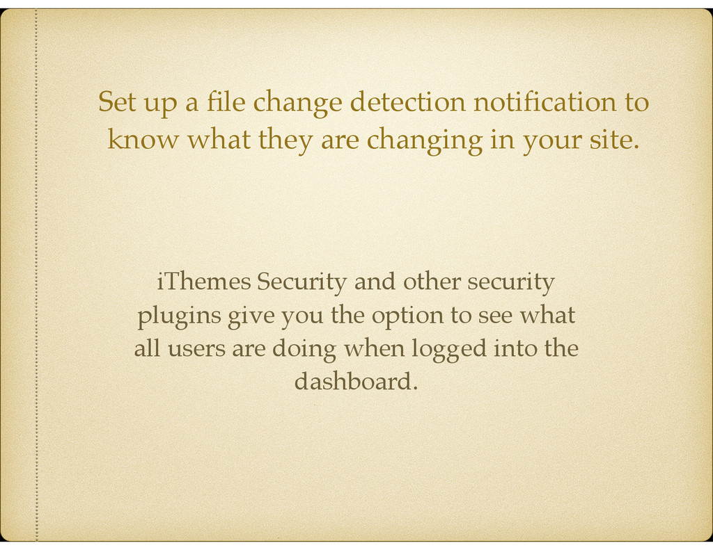 Set up a file change detection notification to kn...