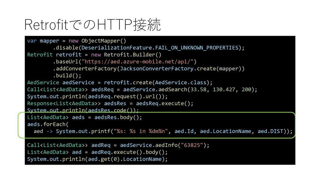 RetrofitでのHTTP接続 var mapper = new ObjectMapper(...