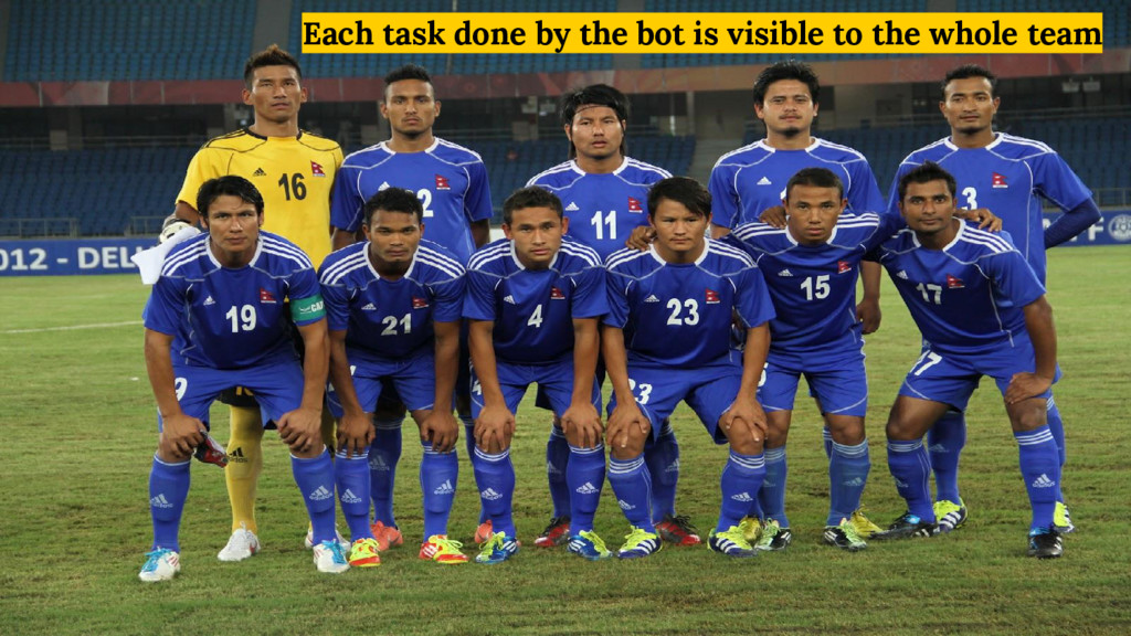 Each task done by the bot is visible to the who...