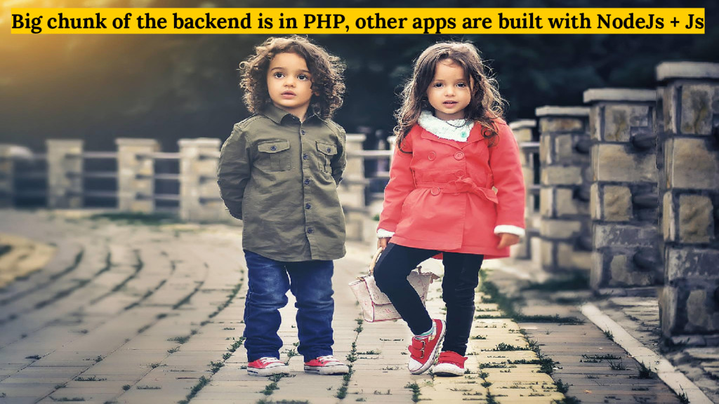 Big chunk of the backend is in PHP, other apps ...