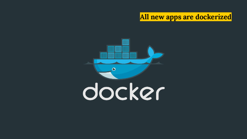 All new apps are dockerized