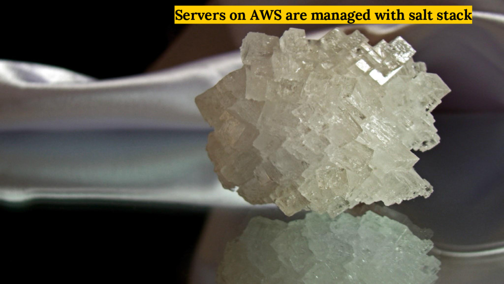 Servers on AWS are managed with salt stack