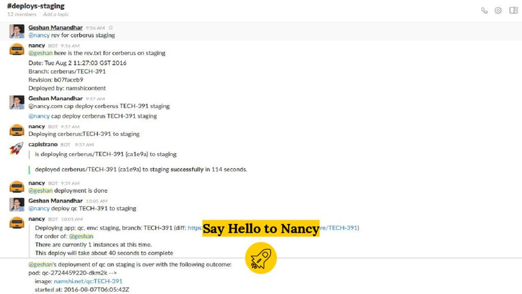 Say Hello to Nancy