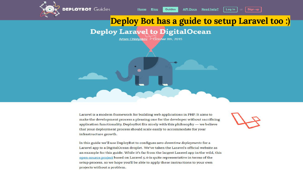 Deploy Bot has a guide to setup Laravel too :)