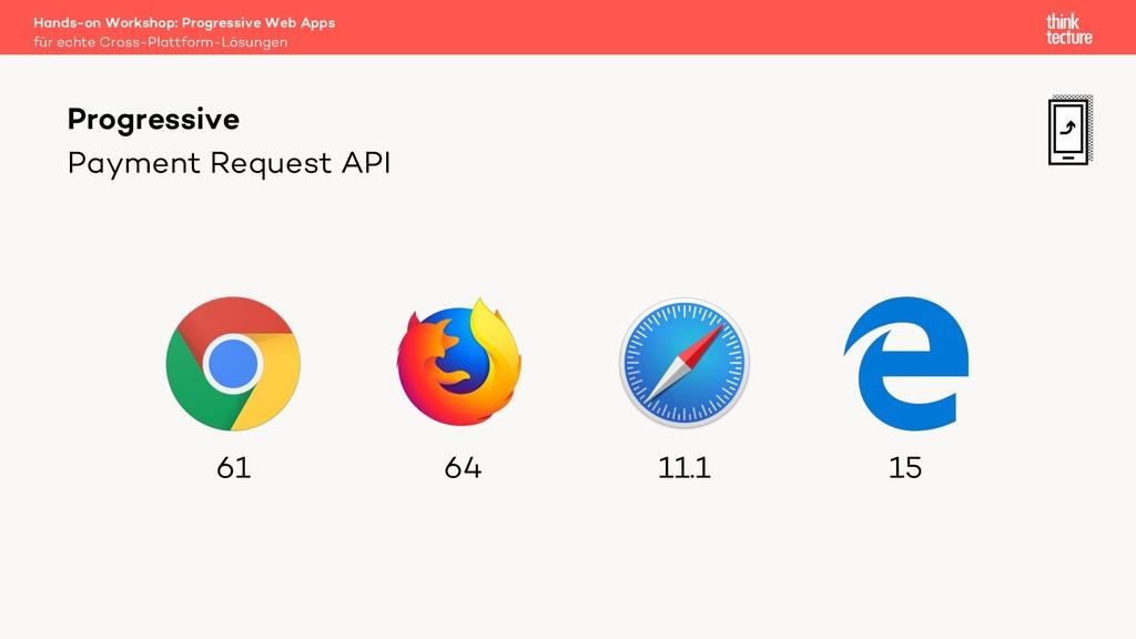 Payment Request API Progressive für echte Cross...