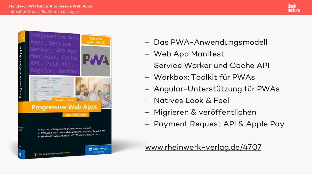 Hands-on Workshop: Progressive Web Apps für ech...