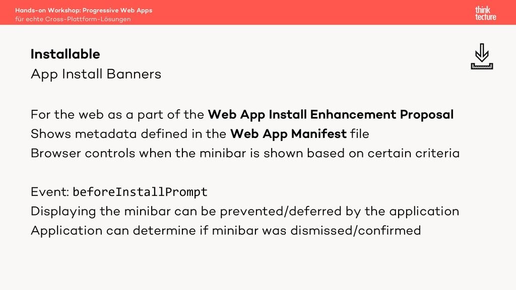 App Install Banners For the web as a part of th...