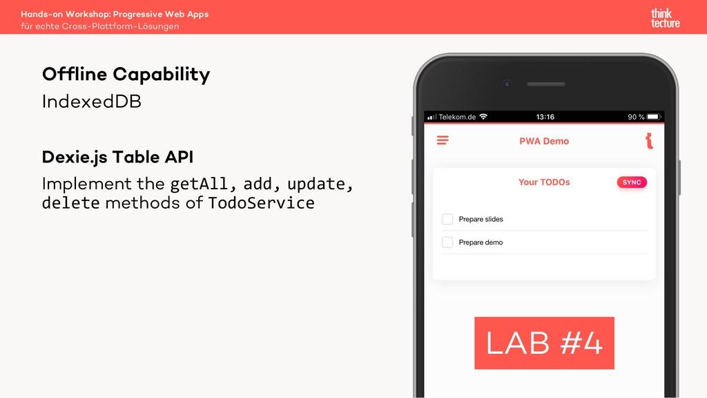 IndexedDB Dexie.js Table API Implement the getA...