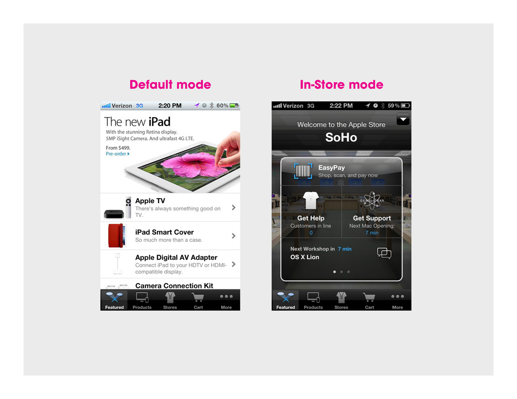 Default mode In-Store mode