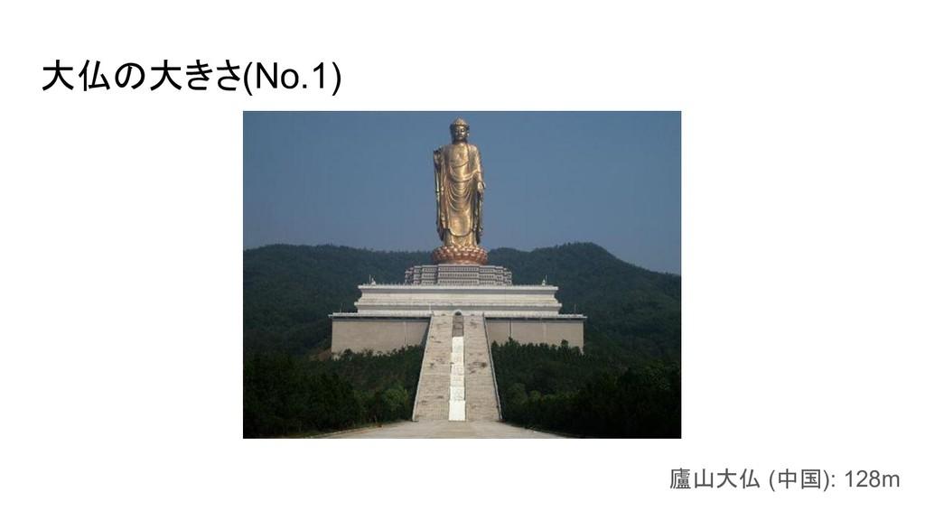 大仏の大きさ(No.1) 廬山大仏 (中国): 128m