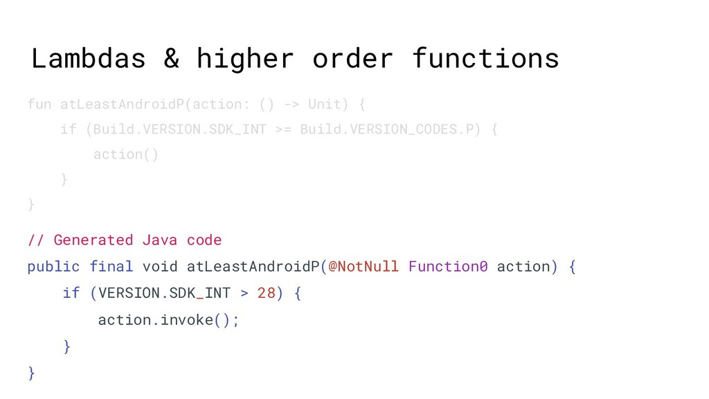Lambdas & higher order functions // Generated J...