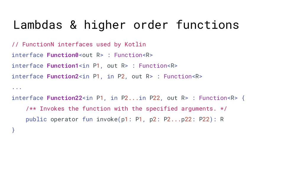 Lambdas & higher order functions // FunctionN i...