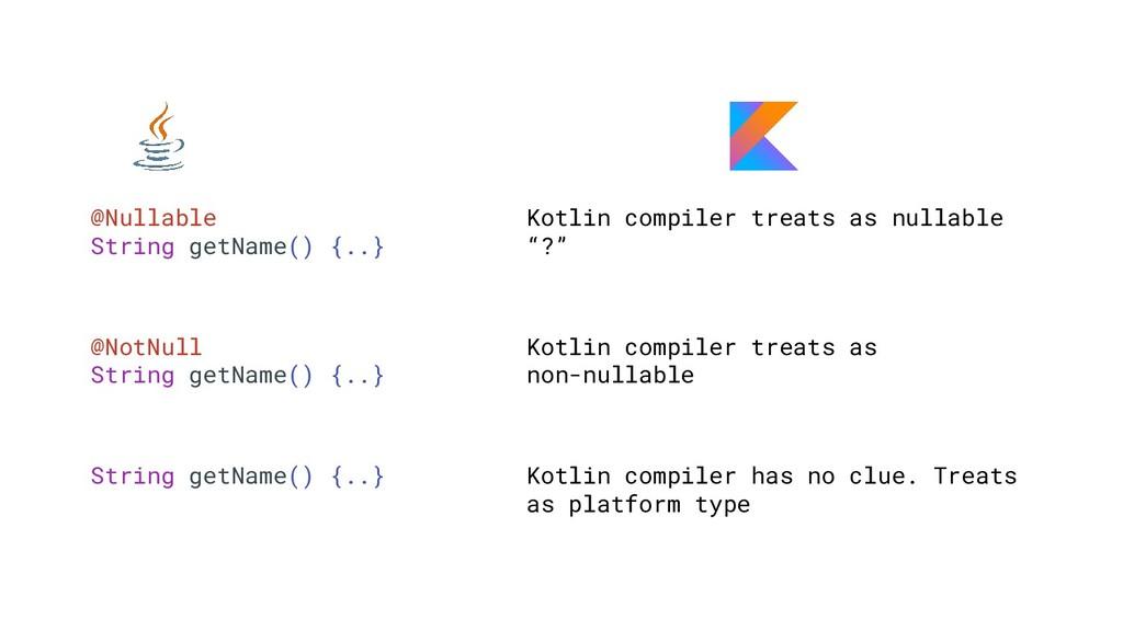 @Nullable String getName() {..} Kotlin compiler...