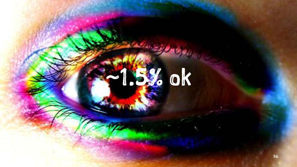~1.5% ok 36
