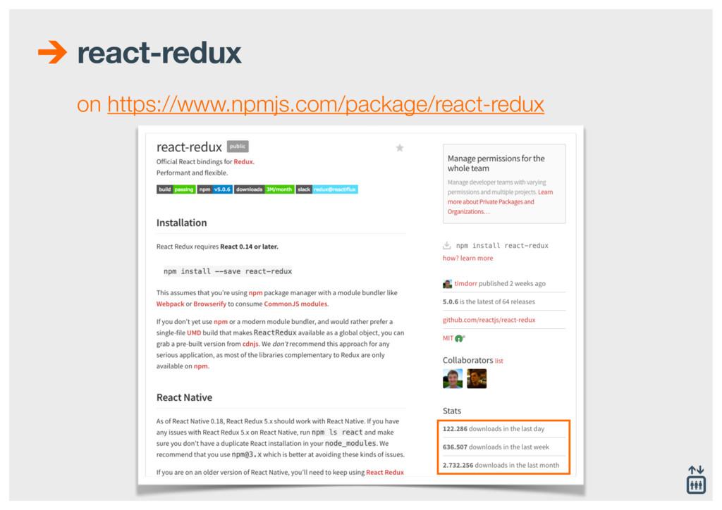 react-redux on https://www.npmjs.com/package/re...
