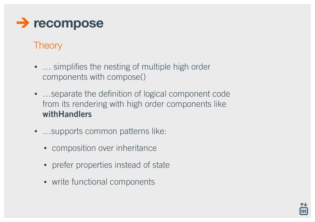 recompose • … simplifies the nesting of multiple...