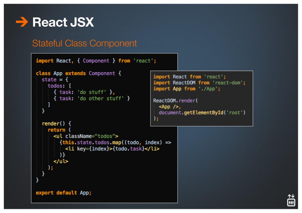 React JSX Stateful Class Component
