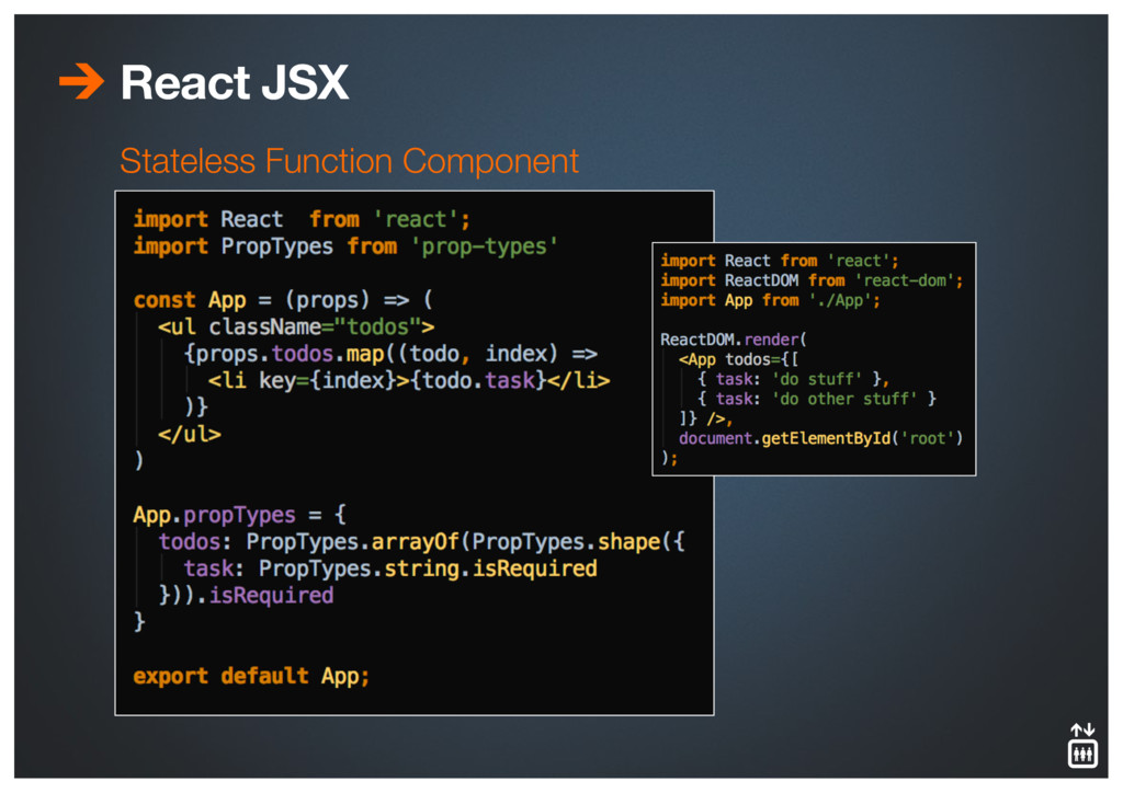 React JSX Stateless Function Component