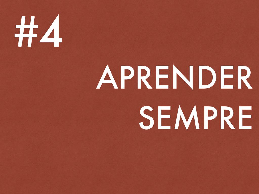 APRENDER SEMPRE #4