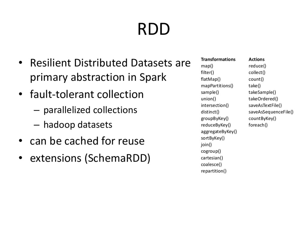 RDD • Resilient Distributed Datasets are primar...