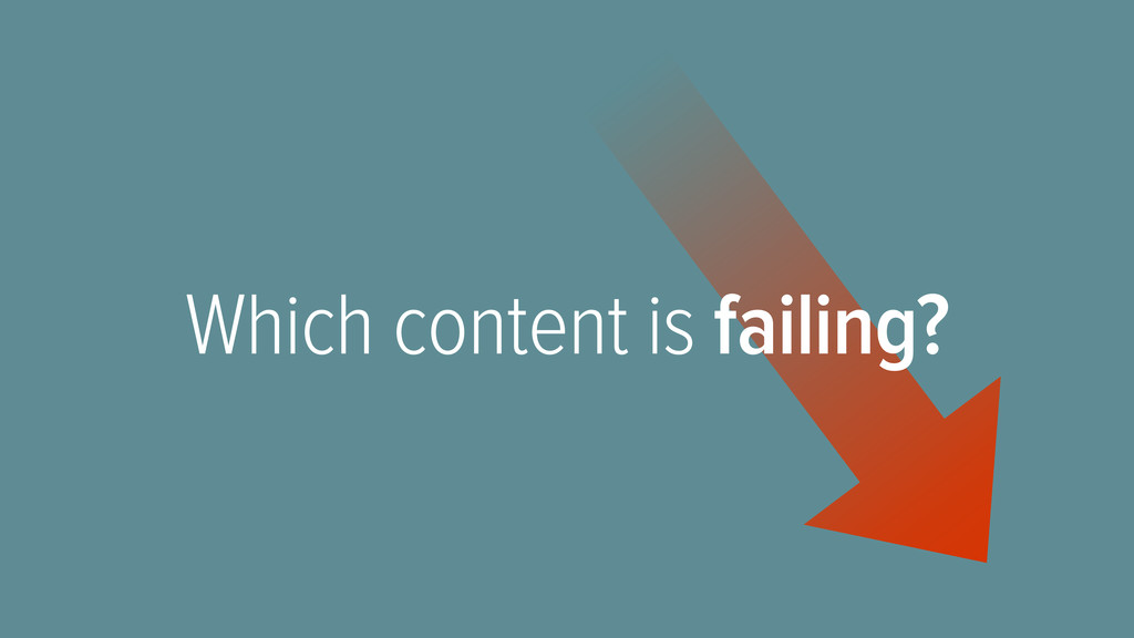 Which content is failing?