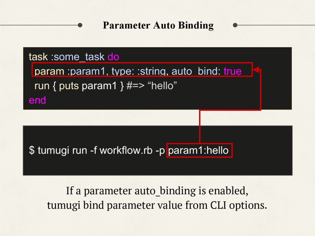 Parameter Auto Binding If a parameter auto_bind...