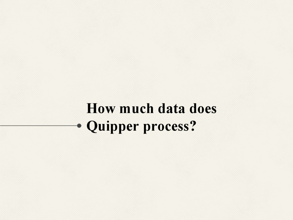 How much data does Quipper process?