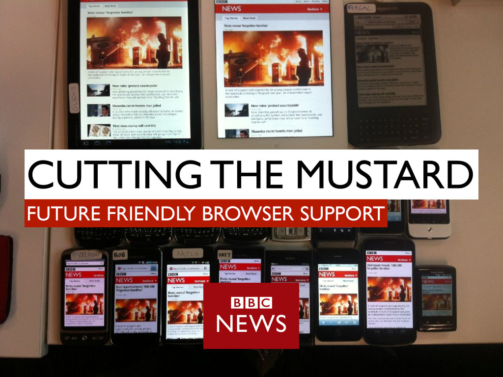 CUTTING THE MUSTARD FUTURE FRIENDLY BROWSER SUP...