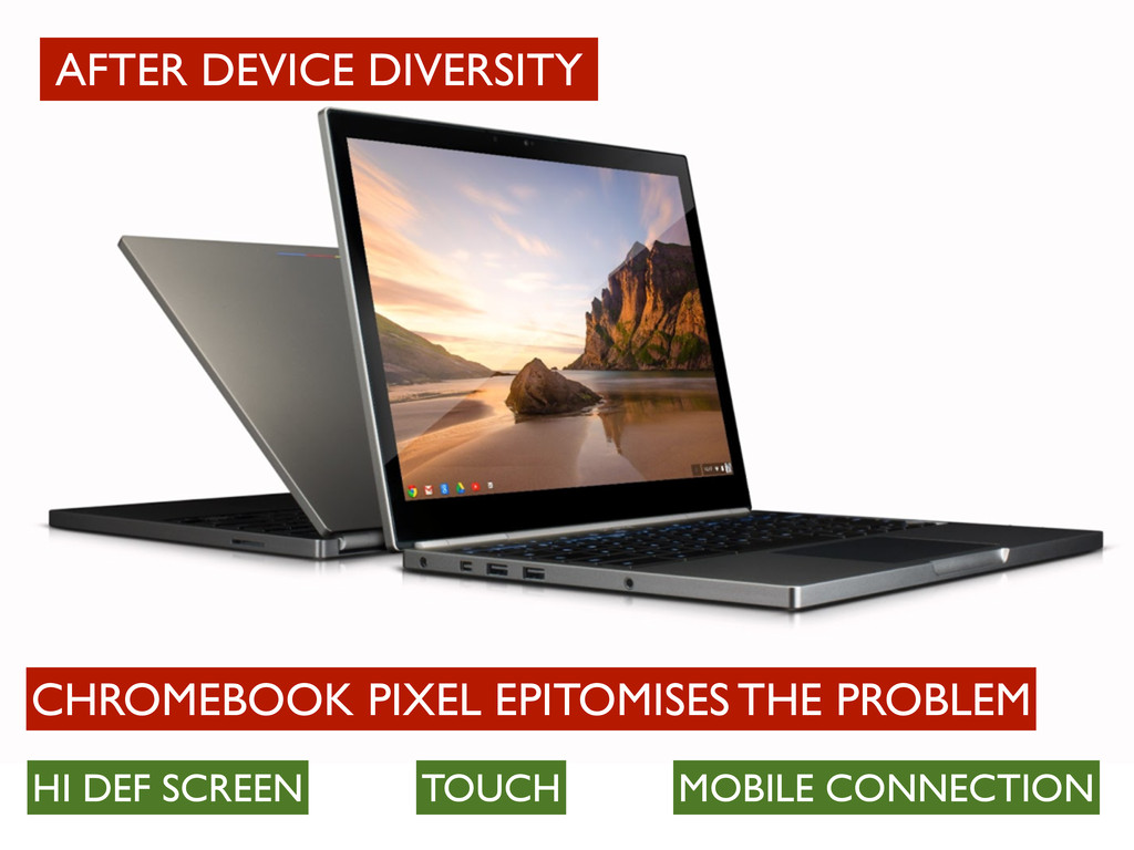 CHROMEBOOK PIXEL EPITOMISES THE PROBLEM HI DEF ...
