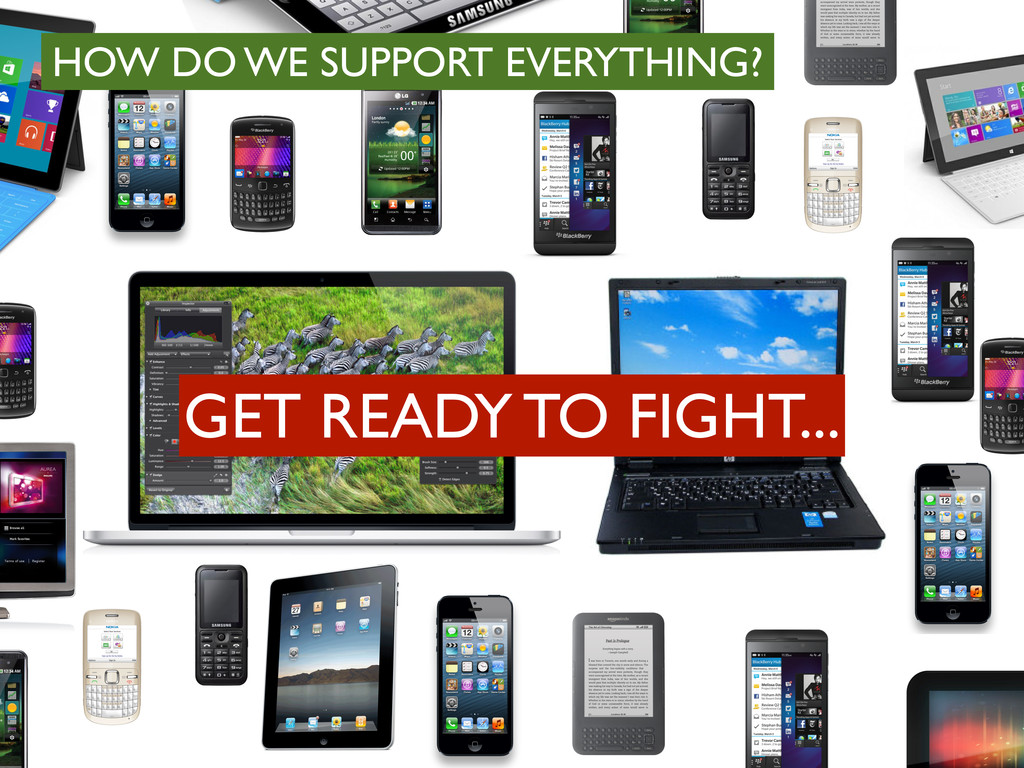 HOW DO WE SUPPORT EVERYTHING? GET READY TO FIGH...