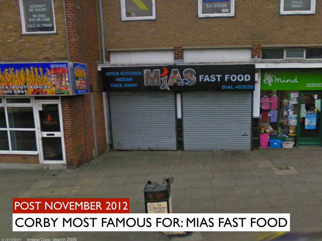 POST NOVEMBER 2012 CORBY MOST FAMOUS FOR: MIAS ...