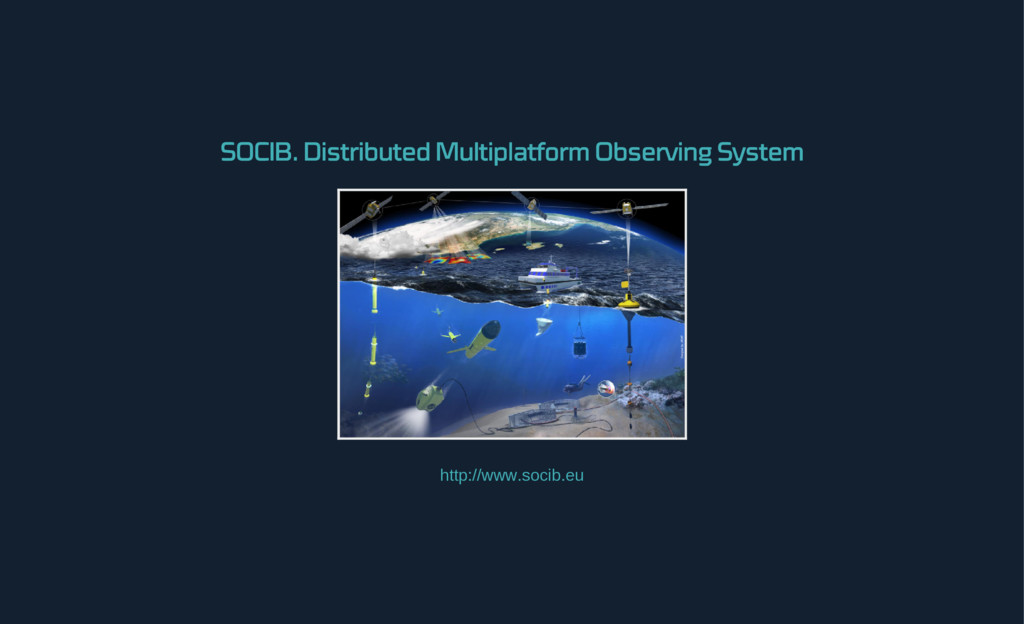SOCIB. Distributed Multiplatform Observing Syst...