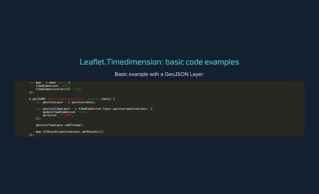 Leaflet.Timedimension : basic code examples Bas...