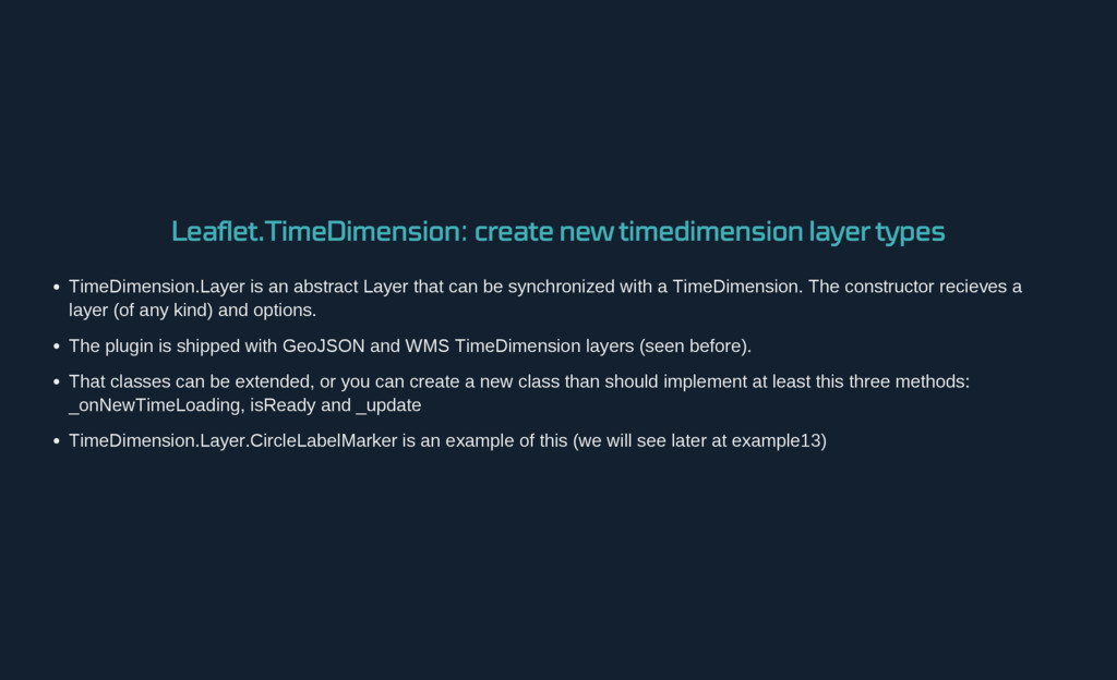 Leaflet.TimeDimension : create new timedimensio...