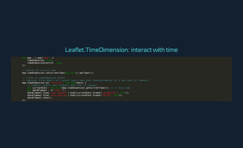 Leaflet.TimeDimension : interact with time v a ...