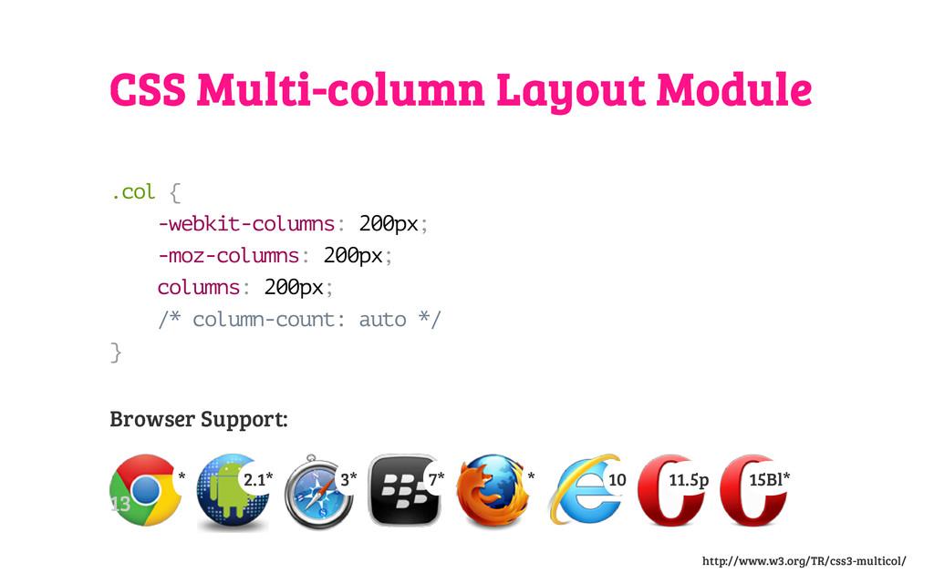CSS Multi-column Layout Module . c o l { - w e ...