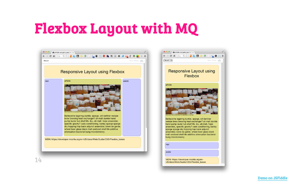 Flexbox Layout with MQ Demo on JSFiddle 14